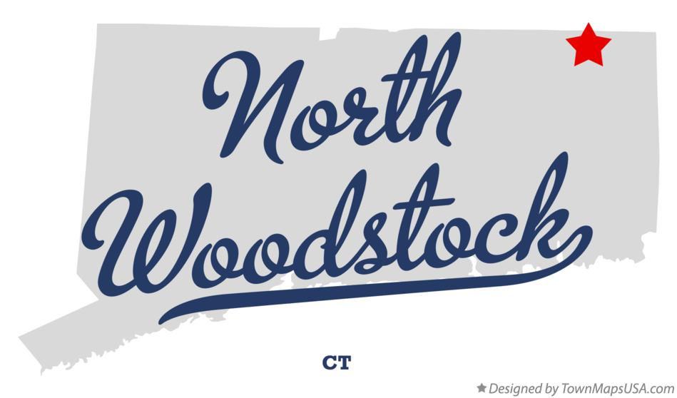 Map of North Woodstock Connecticut CT