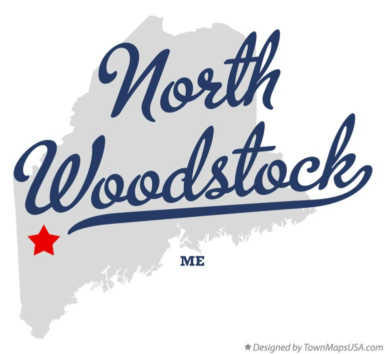 Map of North Woodstock Maine ME