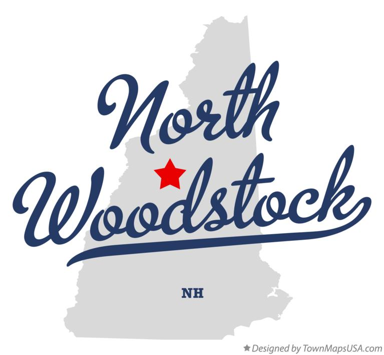 Map of North Woodstock New Hampshire NH