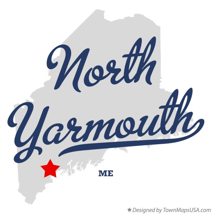 Map of North Yarmouth Maine ME