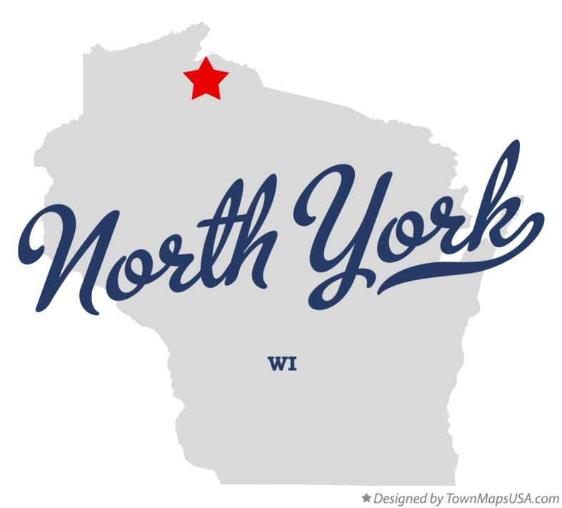 Map of North York Wisconsin WI