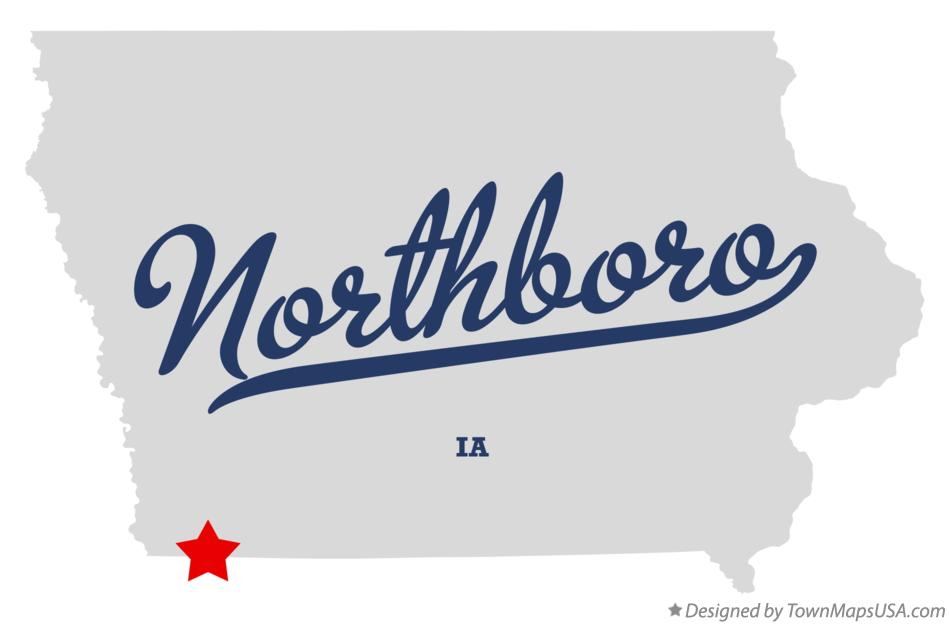Map of Northboro Iowa IA