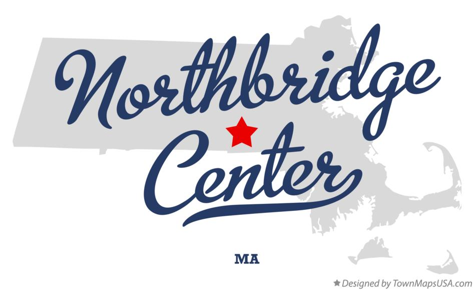 Map of Northbridge Center Massachusetts MA