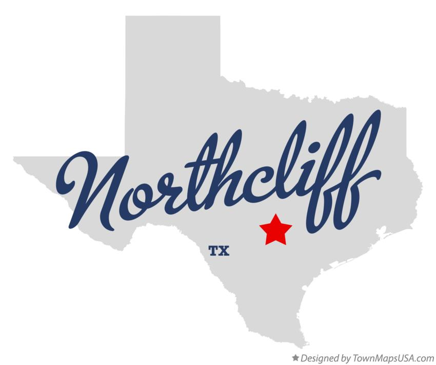 Map of Northcliff Texas TX