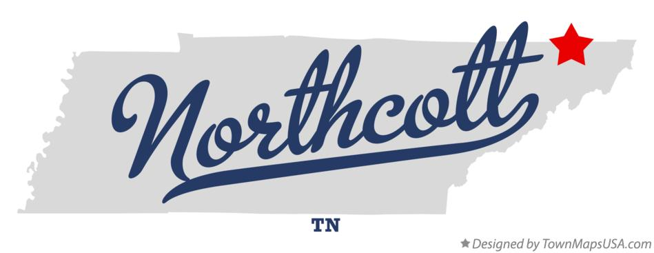 Map of Northcott Tennessee TN