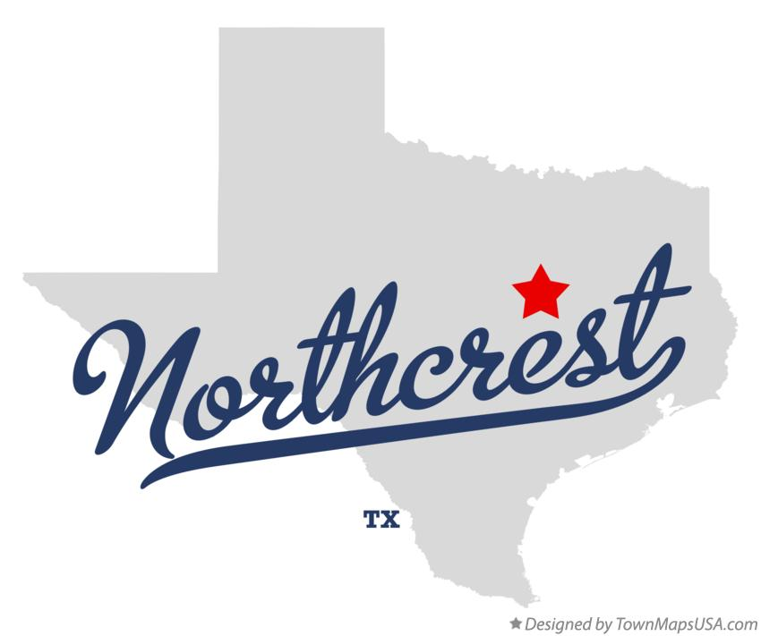 Map of Northcrest Texas TX