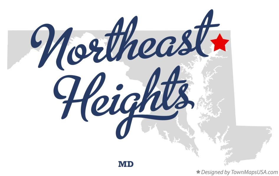 Map of Northeast Heights Maryland MD