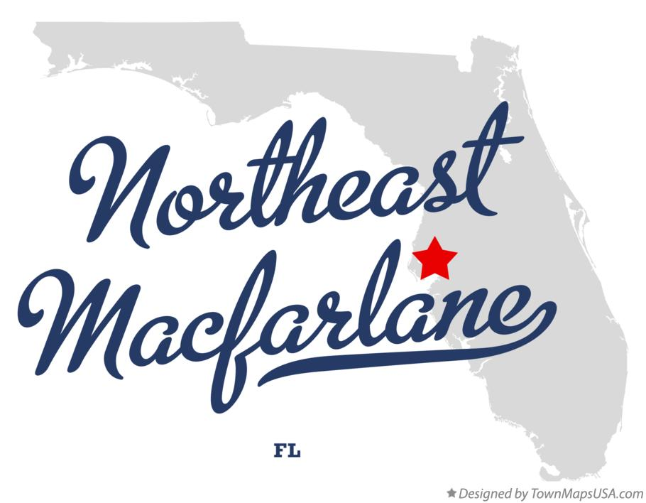 Map of Northeast Macfarlane Florida FL