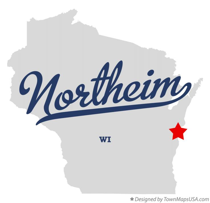 Map of Northeim Wisconsin WI
