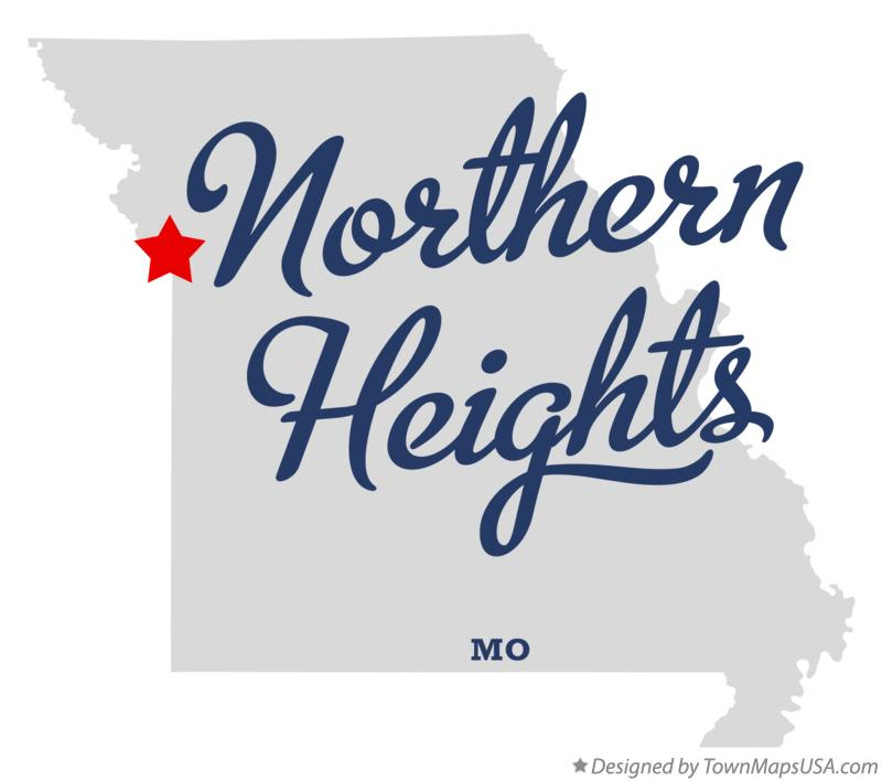 Map of Northern Heights Missouri MO