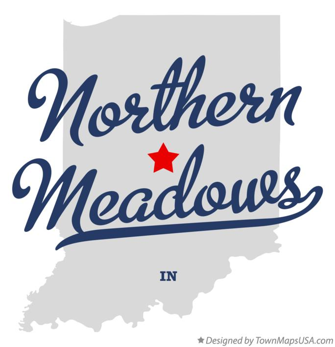 Map of Northern Meadows Indiana IN