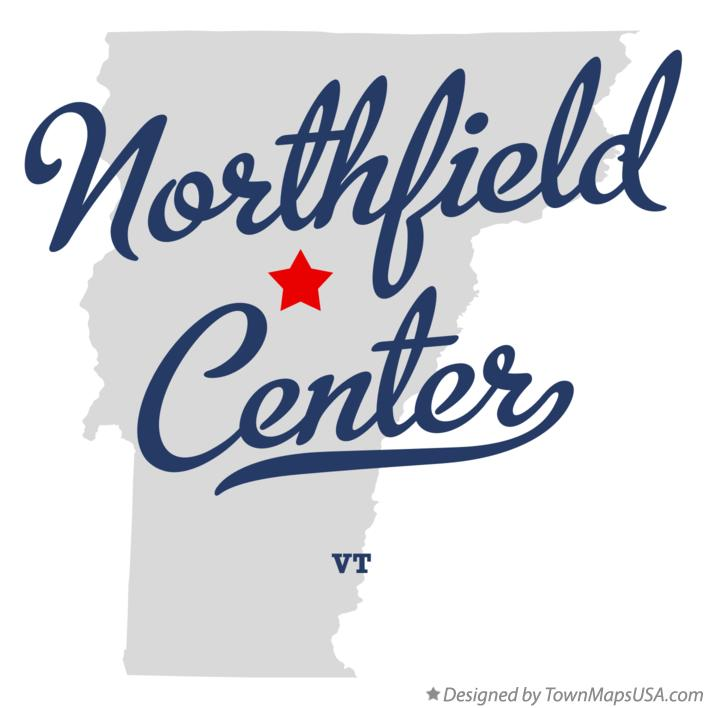 Map of Northfield Center Vermont VT