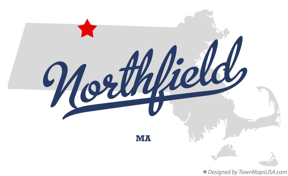 Map of Northfield Massachusetts MA