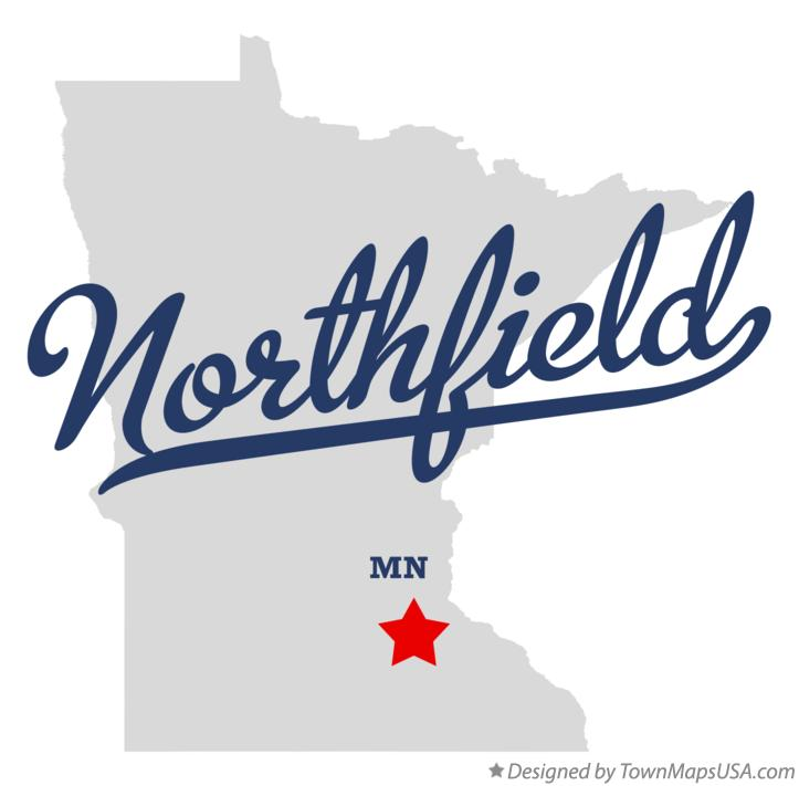 Map of Northfield Minnesota MN