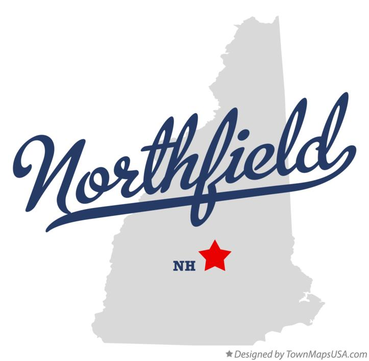 Map of Northfield New Hampshire NH