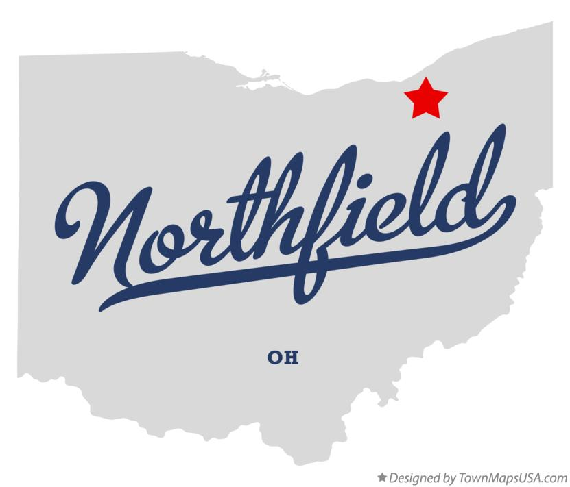 Map of Northfield Ohio OH