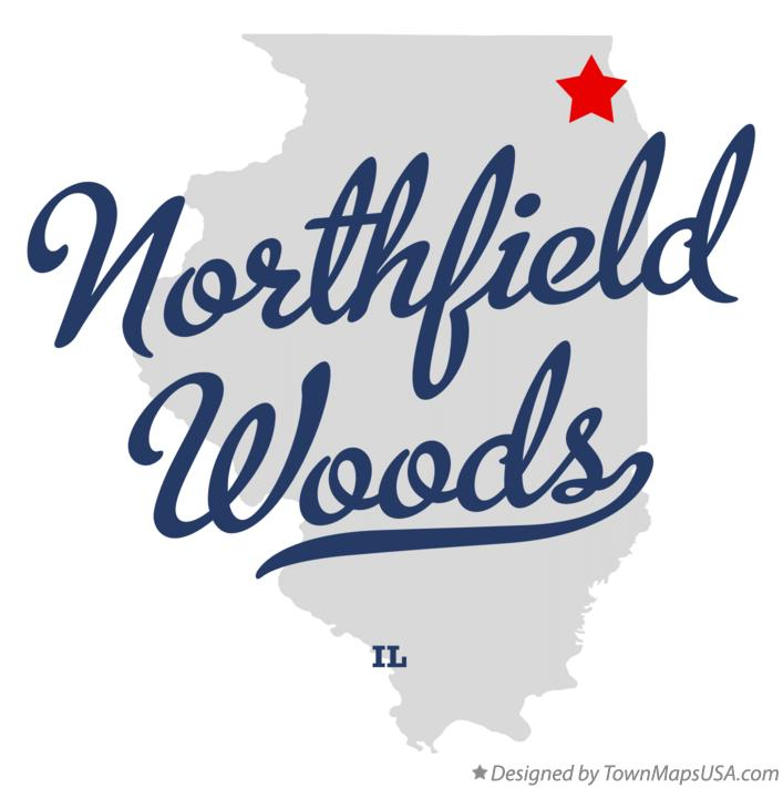 Map of Northfield Woods Illinois IL