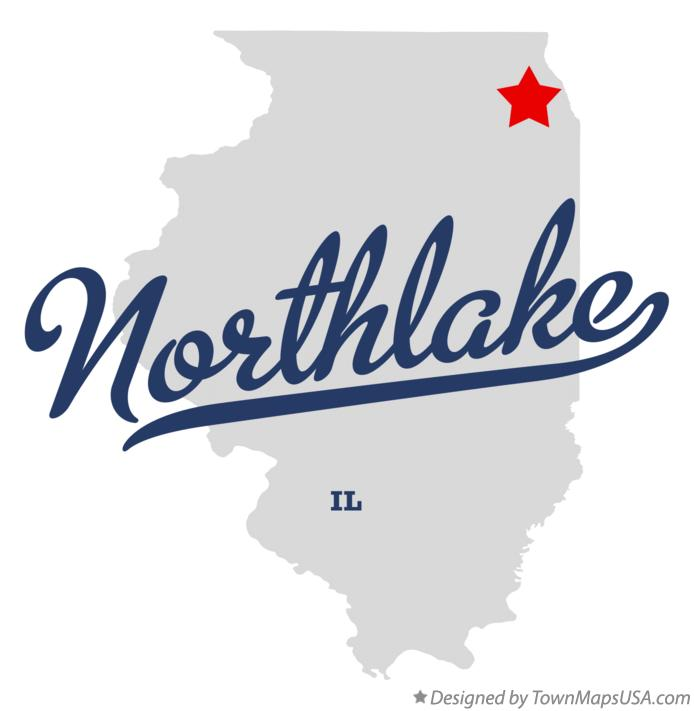 Map of Northlake Illinois IL