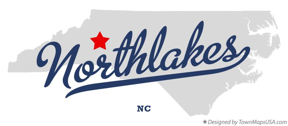 Map of Northlakes North Carolina NC