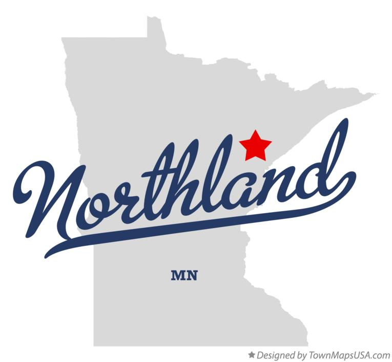 Map of Northland Minnesota MN