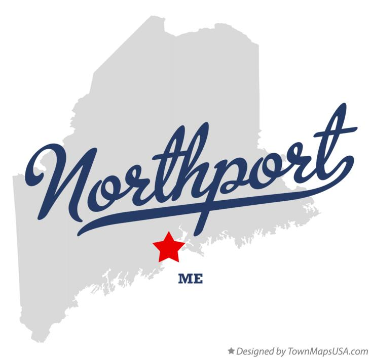 Map of Northport Maine ME
