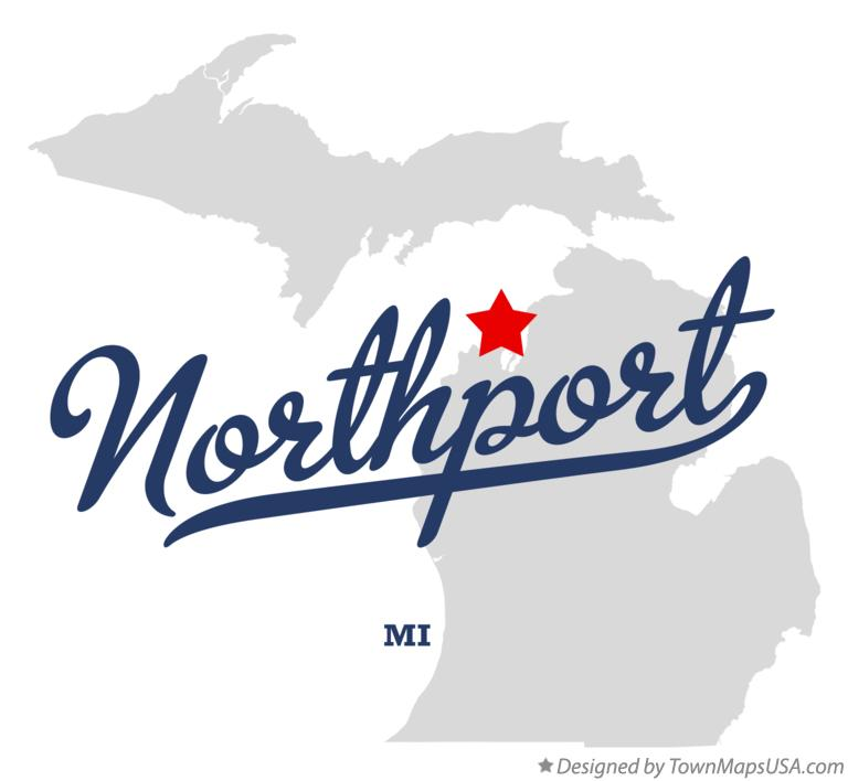 Map of Northport Michigan MI