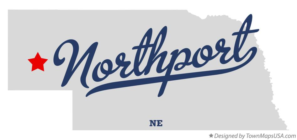 Map of Northport Nebraska NE