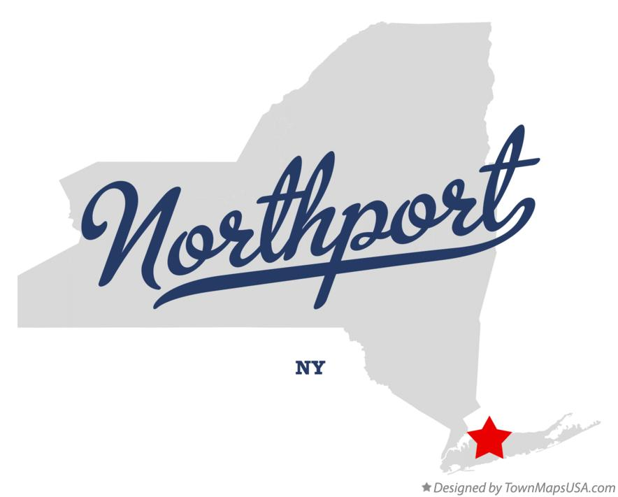 Map of Northport New York NY
