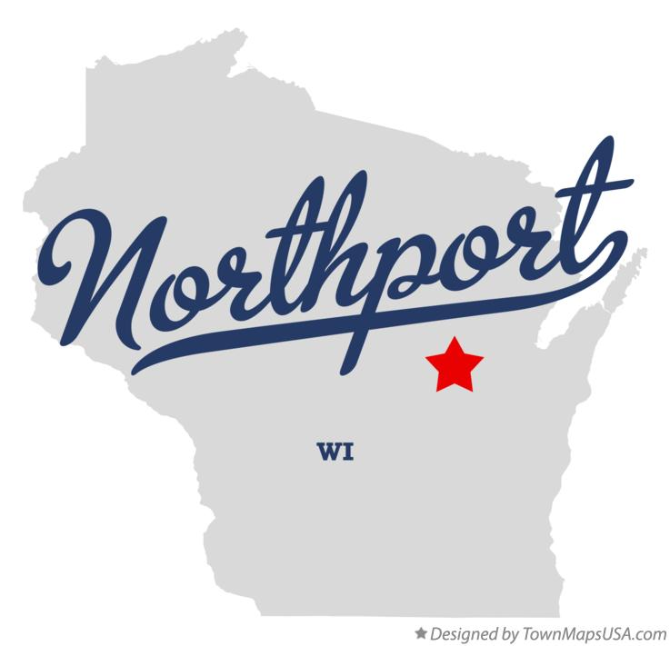 Map of Northport Wisconsin WI