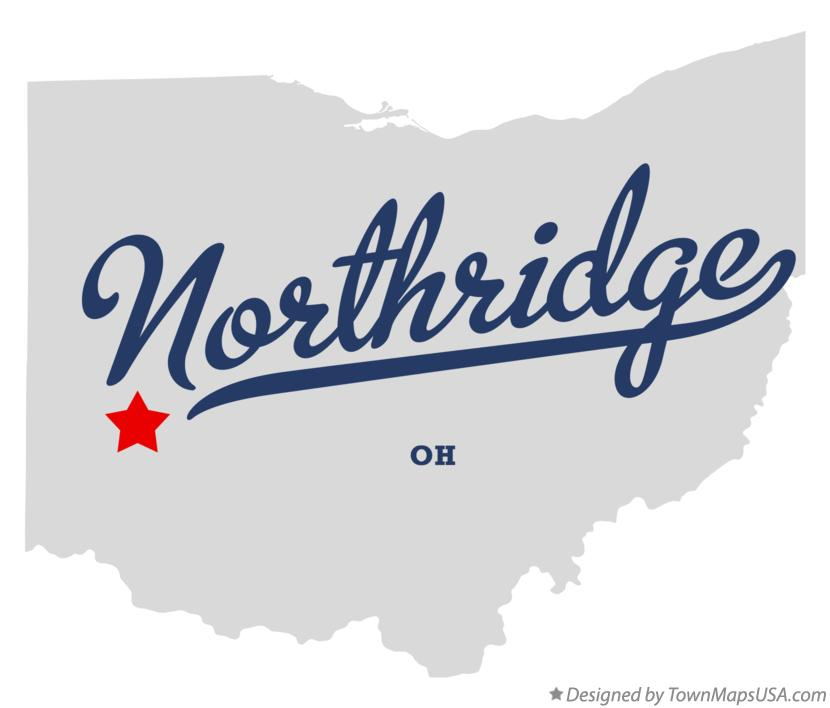 Map of Northridge Ohio OH
