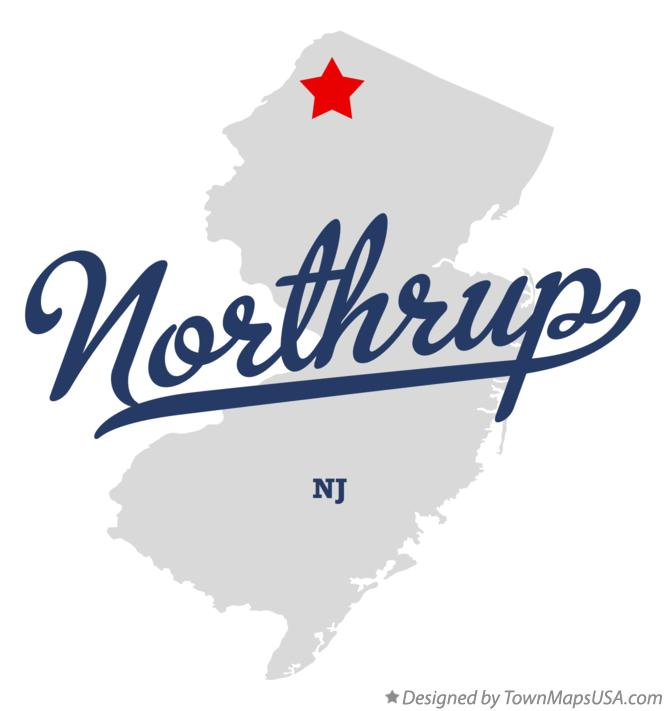 Map of Northrup New Jersey NJ