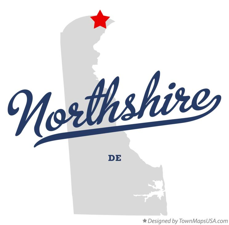 Map of Northshire Delaware DE