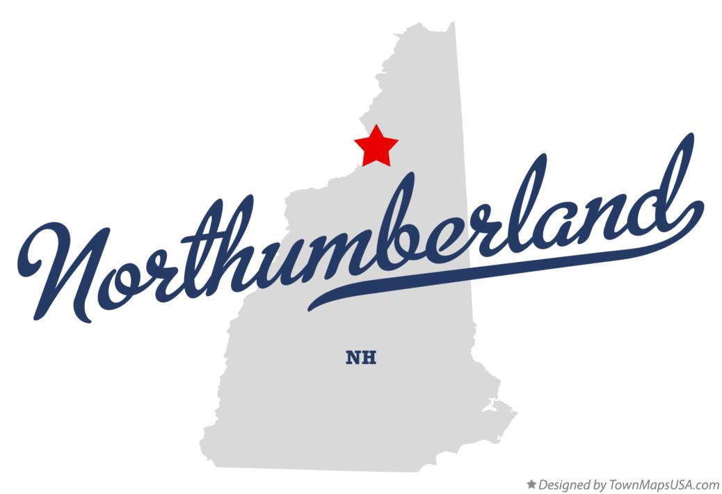 Map of Northumberland New Hampshire NH