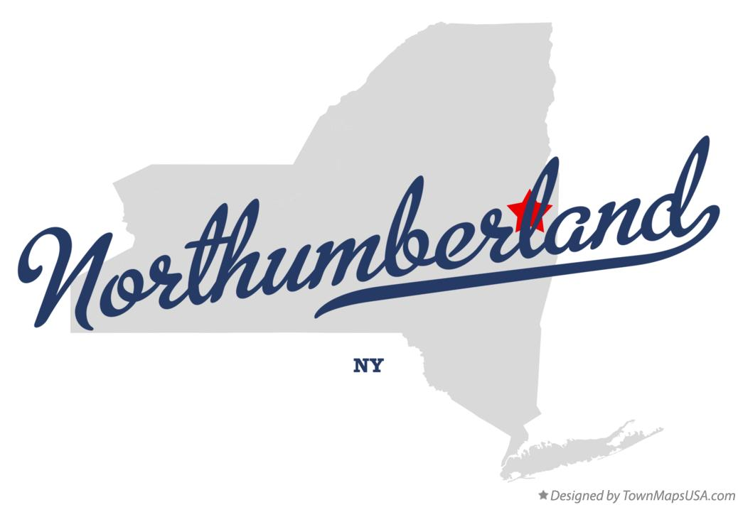 Map of Northumberland New York NY