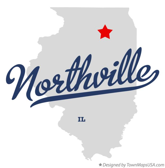 Map of Northville Illinois IL