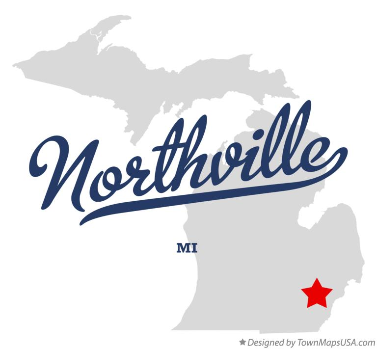 Map of Northville Michigan MI