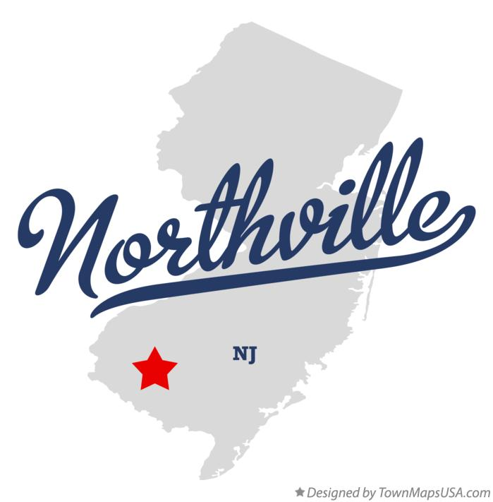 Map of Northville New Jersey NJ