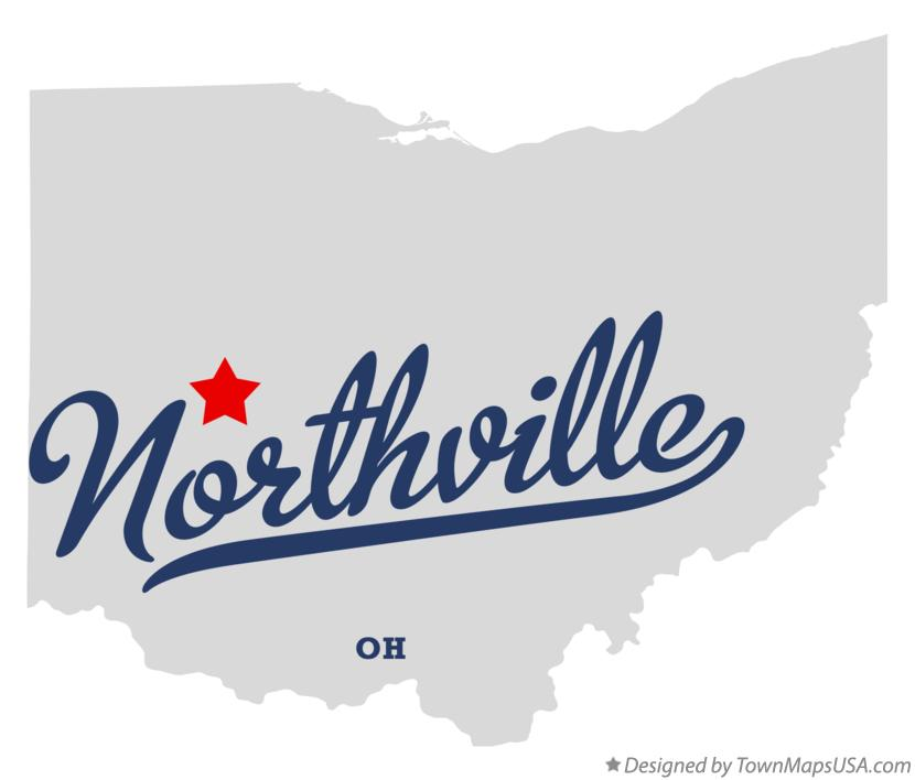 Map of Northville Ohio OH