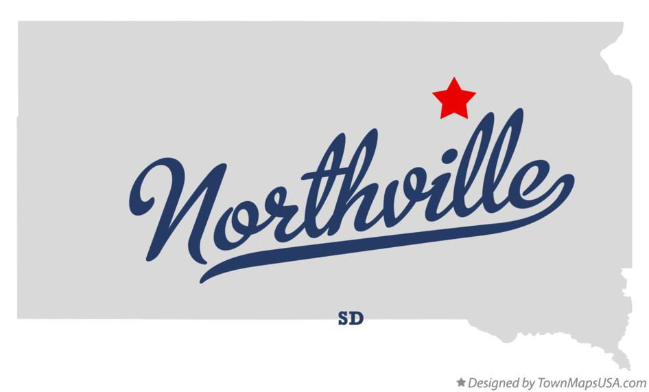 Map of Northville South Dakota SD