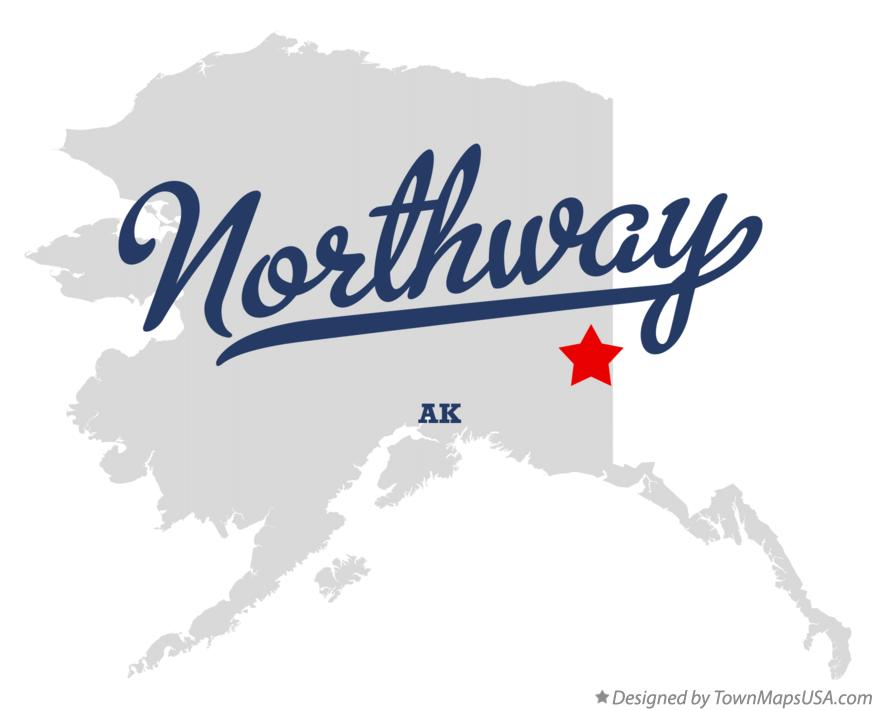 Map of Northway Alaska AK