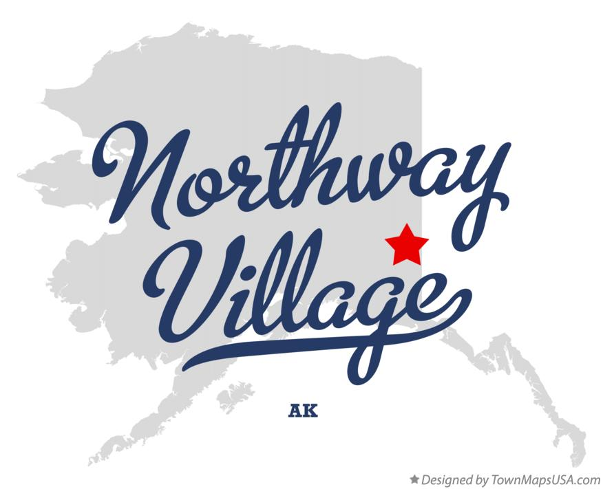 Map of Northway Village Alaska AK