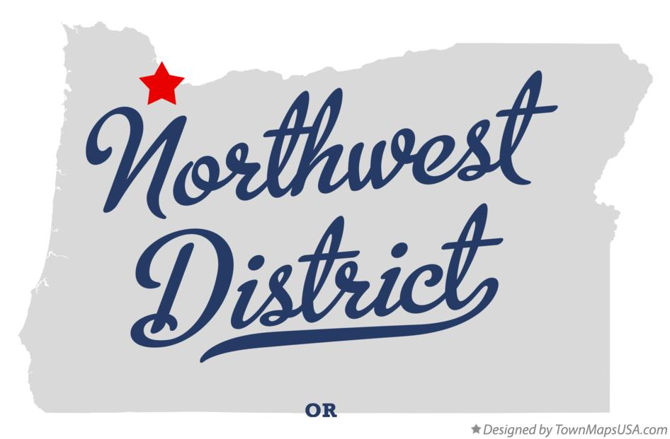 Map of Northwest District Oregon OR