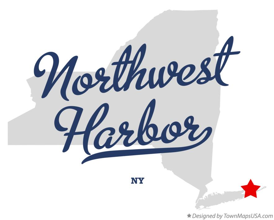 Map of Northwest Harbor New York NY