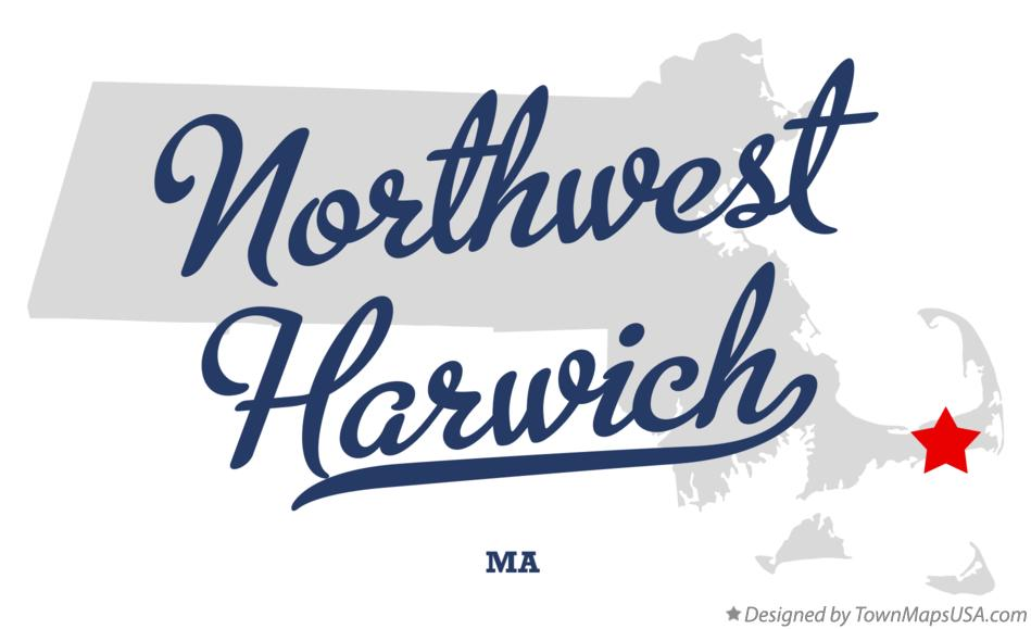 Map of Northwest Harwich Massachusetts MA
