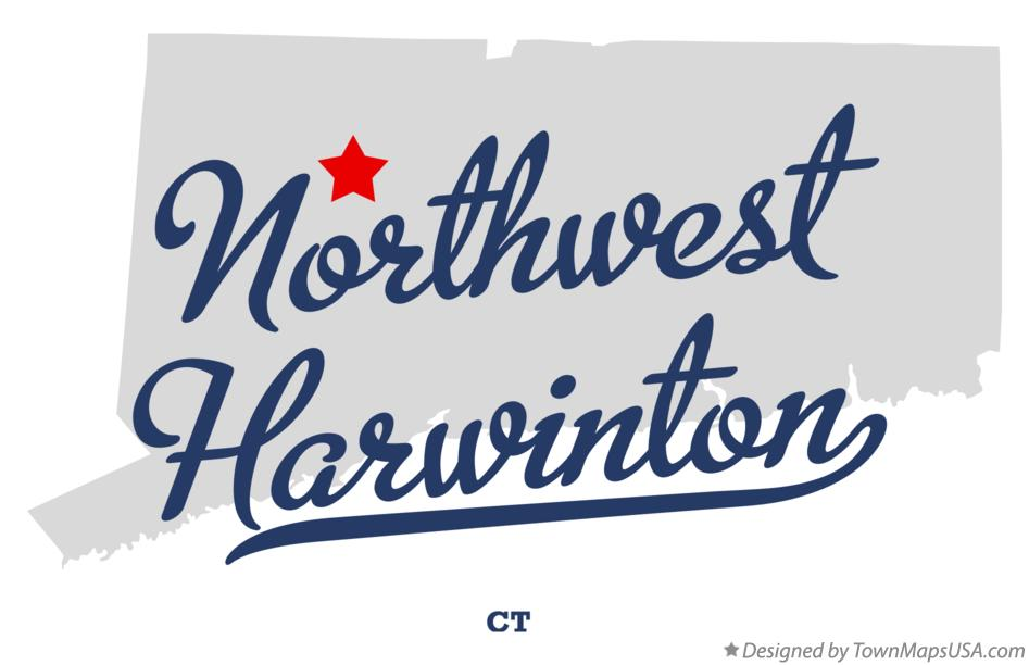 Map of Northwest Harwinton Connecticut CT