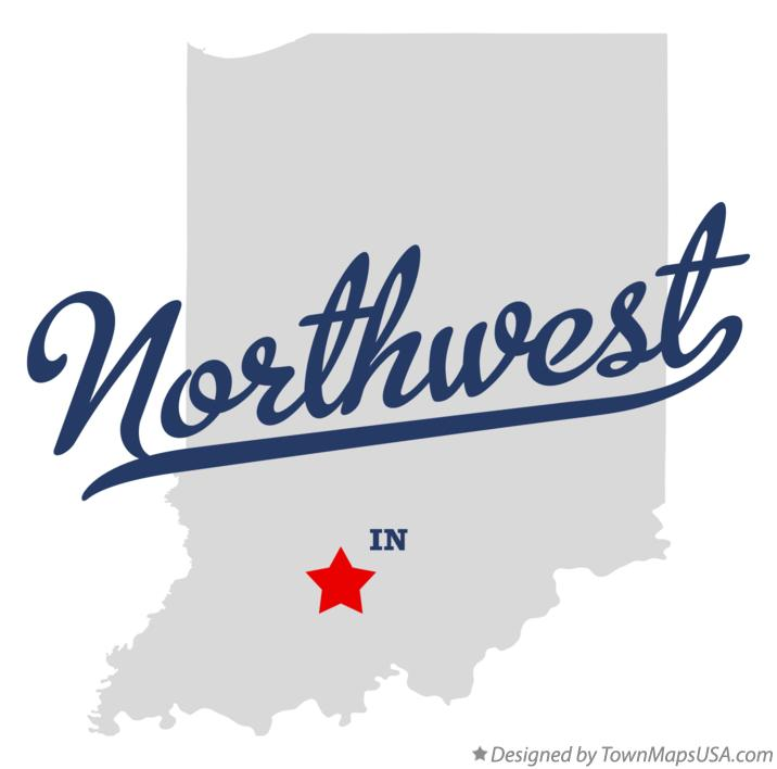 Map of Northwest Indiana IN