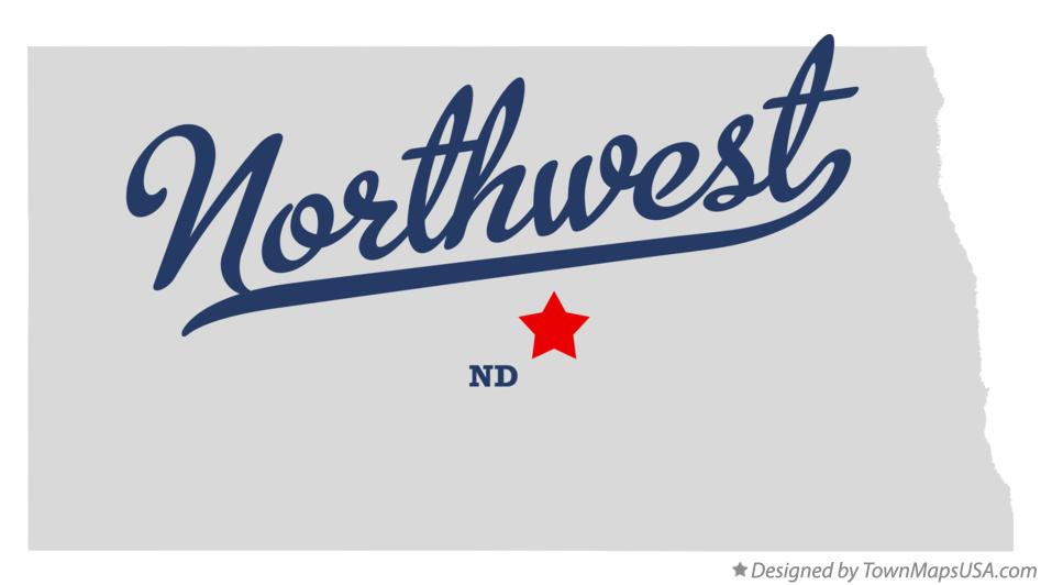 Map of Northwest North Dakota ND