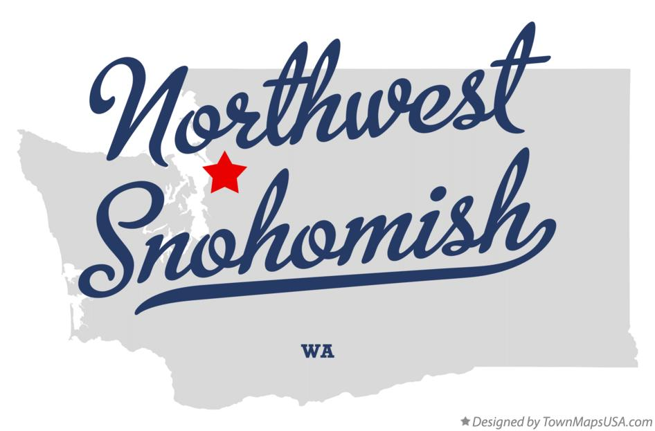 Map of Northwest Snohomish Washington WA