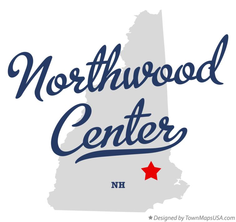 Map of Northwood Center New Hampshire NH