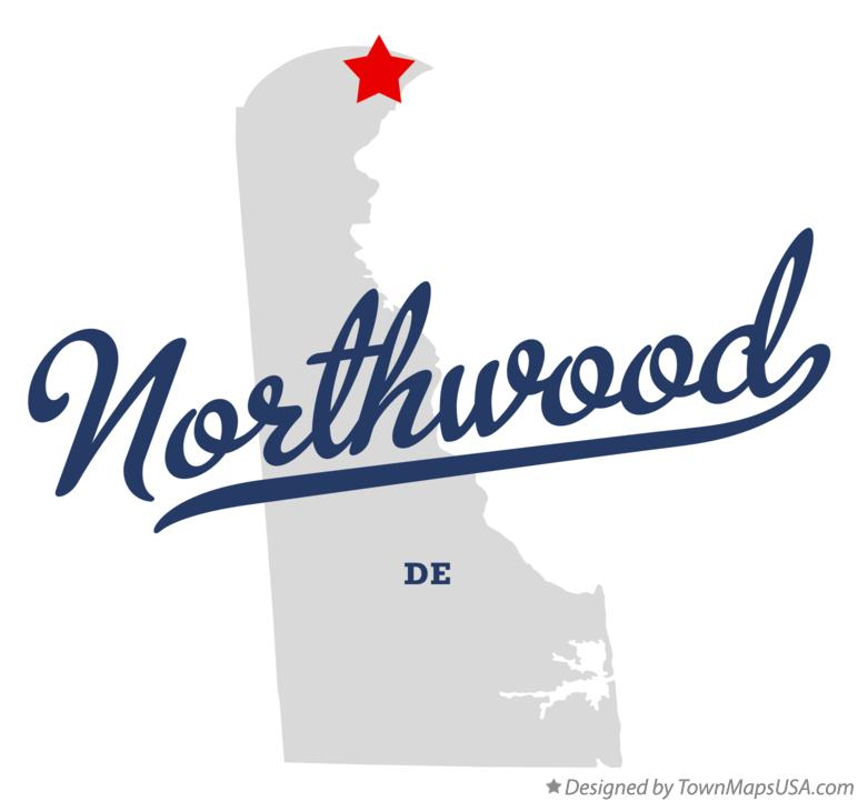 Map of Northwood Delaware DE